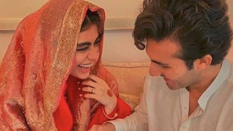 Sadaf Kanwal and Shahroz Sabzwari tied the knot in a simple nikah ceremony earlier today