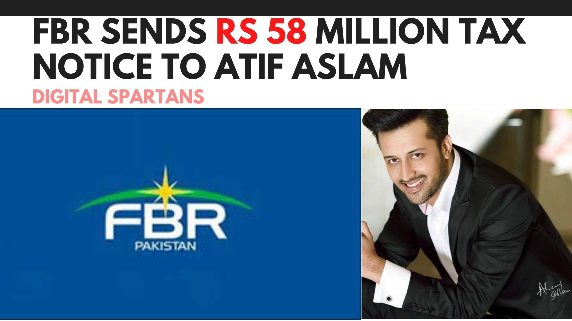 FBR Sends Rs 58 Million Tax Notice to Atif Aslam